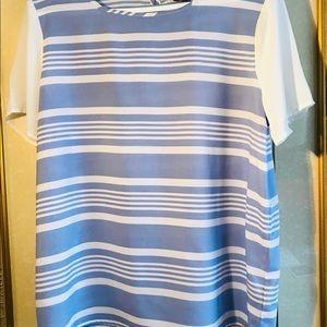 🌺Blue & White Stripe Blouse